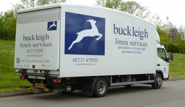 Buckleigh linen services contract truck