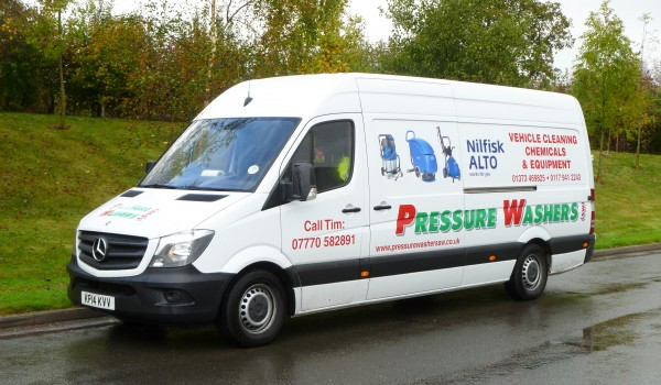 Pressure washers sign written van